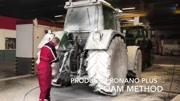 实拍: 大型农用拖拉机, 高压水枪洗车全过程, 太干净了