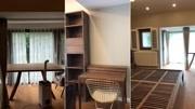 给北京一个别墅业主定做了卧室一套家具:床书柜衣柜梳妆台,不过加起来没有阳台那张桌