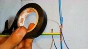 电工知识:绝缘胶带的T型缠绕方法讲解,初学电工必会教程