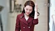 2014秋季新款女装正品韩版外套 学院风双排扣修身中长款女士风衣