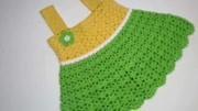 手工毛衣编织教程:钩针编织简单大方的女童吊带裙,女宝宝的福利