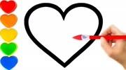 儿童学画画,小朋友们一起来画爱心吧!