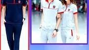 情运动套装男2014新款夏季情侣运动服装女短袖套装休闲短套装