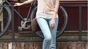 2016新款韩版弹力牛仔裤女微喇叭裤显瘦提臀大码牛仔喇叭通勤女裤