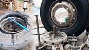 自制的卸轮胎工具,拔轮胎效果杠杠的,这个补胎师傅太有才了,!