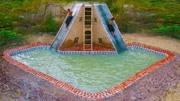 牛人兄弟!用竹子和泥土,建造出水滑梯房子和游泳池