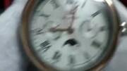 【上海手表】正品机械男表带月相,两个独立秒盘,真皮蓝宝石镜面