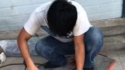 止水带热熔接头现场实验---河北丰德橡胶制品有限公司(专业生产止水条止水带止水胶