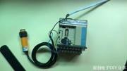 漫反射式光电开关与PLC的接线!以及漫反射式光电开关的距离检测