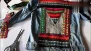 时尚教主教你把老土的牛仔衣改成时尚新潮的的印花外套