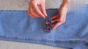 牛仔裤太普通,小姐姐教你改造成破洞牛仔裤