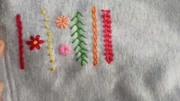 7种常见刺绣花样针法大全,用于修补破洞,刺绣花朵花边装饰!